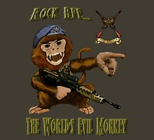 Rock Ape = Evil Monkey Unisex T-Shirt