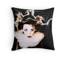 awake in the dark Throw Pillow