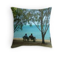 A seat to relax on Throw Pillow
