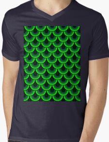 Pattern Retro Style Mens V-Neck T-Shirt