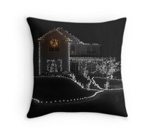 One light shining bright Throw Pillow