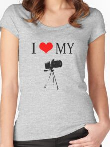 I Love My Camera Women's Fitted Scoop T-Shirt