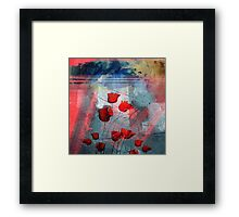 Tulipanes red Framed Print