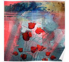 Tulipanes red Poster