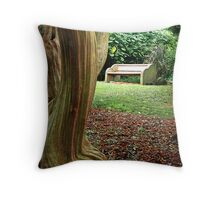 Crepe Myrtle Bench Throw Pillow