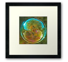 Blue Bubble Framed Print