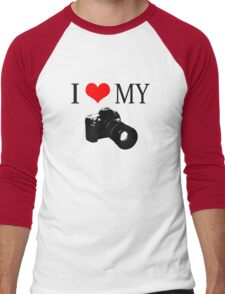 I Love My Camera ll Men's Baseball ¾ T-Shirt