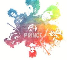 Prince Rogers Nelson - poster colored by JBJart