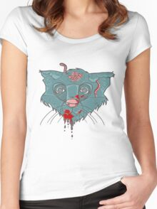 Zombie Frankenkitty Women's Fitted Scoop T-Shirt