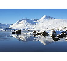 Clach Leathad on the Black Mount. Photographic Print