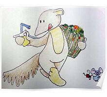 Aswald The Anteater Going ToThe Market Poster
