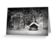 Another hut at the lake Greeting Card