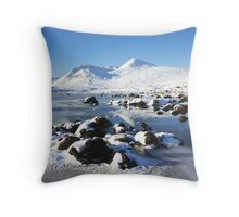 Clach Leathad on the Black Mount. Throw Pillow