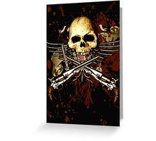 Sixgun Skull Greeting Card