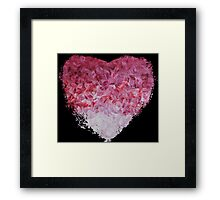 go back to the world - Abstract Heart Art - Pink Framed Print