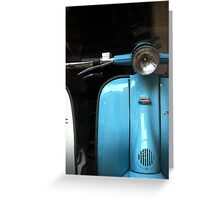 blue vespa Greeting Card