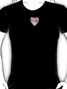 Valerian Pansies - Abstract Heart II - Pink T-Shirt