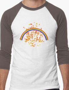 Rainbows and Maple Leaves Men's Baseball ¾ T-Shirt