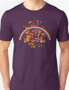 Rainbows and Maple Leaves Unisex T-Shirt