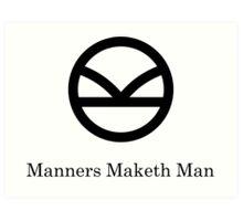 Kingsman Secret Service - Manners Maketh Man Black Art Print