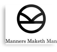 Kingsman Secret Service - Manners Maketh Man Black Metal Print