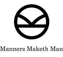 Kingsman Secret Service - Manners Maketh Man Black Photographic Print