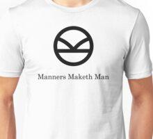 Kingsman Secret Service - Manners Maketh Man Black Unisex T-Shirt
