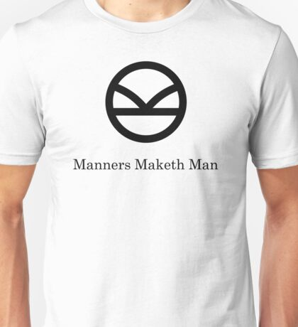 Kingsman Secret Service - Manners Maketh Man Black Unisex T-Shirt