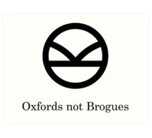 Kingsman Secret Service - Oxfords not Brogues Black Art Print