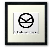 Kingsman Secret Service - Oxfords not Brogues Black Framed Print