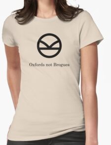 Kingsman Secret Service - Oxfords not Brogues Black Womens Fitted T-Shirt
