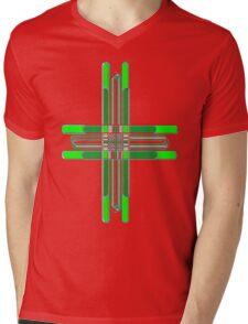 Complex Pattern Mens V-Neck T-Shirt