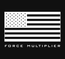 FORCE MULTIPLIER - AMERICAN FLAG (WHITE) Kids Clothes