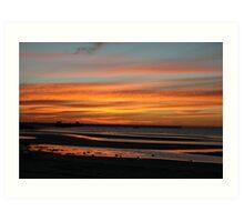 Sunset at Moonta Bay, S.A. Art Print
