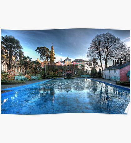 Icy Portmeirion Poster