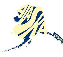 Alaska State Word Art by surgedesigns