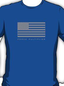 FORCE MULTIPLIER - AMERICAN FLAG (GREY) T-Shirt