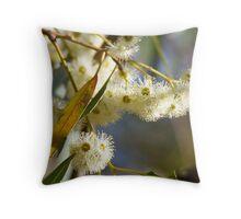 Flowering White Gum Throw Pillow
