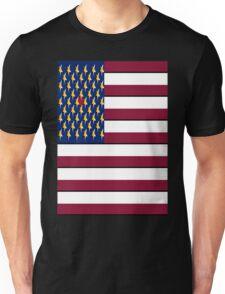 USA Pop Art Heart Flag, Hearts Between the Stars!! Unisex T-Shirt