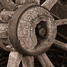 Old Wagon Wheel by Jennifer Craker