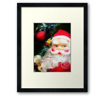Christmas Tree and Santa Framed Print
