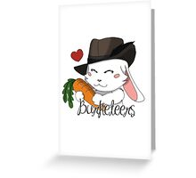 Burgundy Bunny Greeting Card