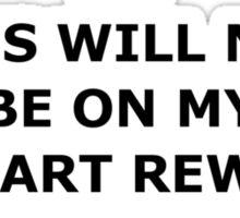 Not on MasterCard Sticker