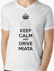Keep Calm And Drive Miata NA Mens V-Neck T-Shirt