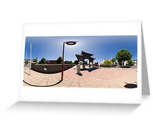 Chinese Gateway - Full 360° Panorama Greeting Card
