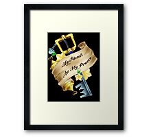 My Friends Are My Power Framed Print