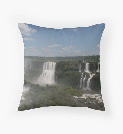 Yguazu Waterfalls Throw Pillow