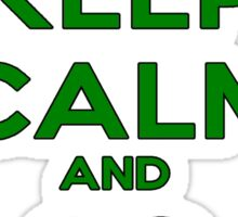 Keep Calm And Go Green Sticker
