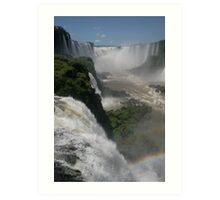 Yguazu Waterfalls - DEVIL´S THROAT Art Print