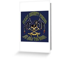 Security Forces Carpe Noctum Greeting Card